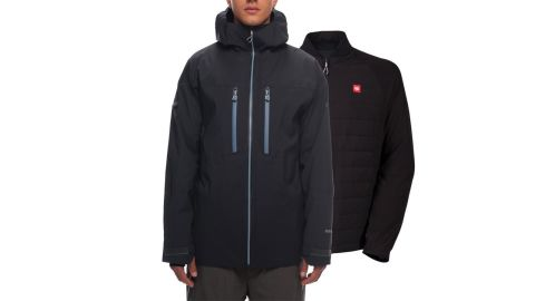 """<strong>686 GLCR Stretch Goretex Smarty 3-in-1 Weapon jacket ($580; </strong><a href=""""https://www.686.com/collections/mens-snow-jackets/products/mns-glcr-gore-smrty-weapon-jkt?variant=12220408103013"""" target=""""_blank"""" target=""""_blank""""><strong>686.com</strong></a><strong>)</strong>"""