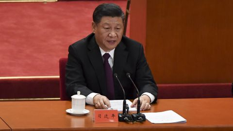 China's President Xi Jinping gives a speech during a celebration meeting marking the 40th anniversary of China's reform and opening up at the Great Hall of the People in Beijing on December 18, 2018. (Photo by WANG Zhao / AFP) / The erroneous mention[s] appearing in the metadata of this photo by WANG Zhao has been modified in AFP systems in the following manner: [correcting Source to AFP instead of Pool]. Please immediately remove the erroneous mention[s] from all your online services and delete it (them) from your servers. If you have been authorized by AFP to distribute it (them) to third parties, please ensure that the same actions are carried out by them. Failure to promptly comply with these instructions will entail liability on your part for any continued or post notification usage. Therefore we thank you very much for all your attention and prompt action. We are sorry for the inconvenience this notification may cause and remain at your disposal for any further information you may require.        (Photo credit should read WANG ZHAO/AFP/Getty Images)