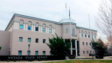 Nevada Legislature building housing the Nevada state senate and assembly.