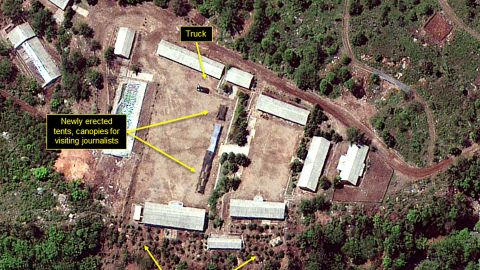 North Korea's Punggye-ri nuclear test site was reported to have been destroyed in May.