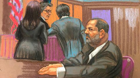 Weinstein appears Thursday in court in New York.