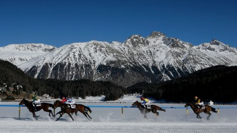 St. Moritz is known for world-class skiing, glitz, glamor and...horse racing? The venue for the White Turf event, held three days a year, isn't your typical racecourse. Instead, it's held on a frozen lake.