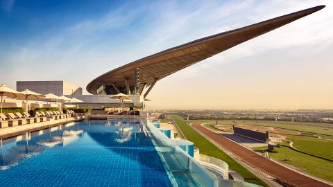 Boasting the world's first five-star trackside hotel, restaurants and a museum, Dubai's Meydan Racecourse is a first-class racing destination.