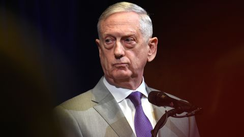 Jim Mattis, U.S. secretary of defense, listens during a news conference at the Australia-US Ministerial (AUSMIN) consultations at Stanford University's Hoover Institution in Stanford, California, U.S., on Tuesday, July 24, 2018. U.S. Secretary of State Michael Pompeo this week sought to shore up support among UN Security Council members for a North Korean sanctions regime that's showing signs of weakening, as hopes for a quick denuclearization agreement with Pyongyang fade. Photographer: Josh Edelson/Bloomberg via Getty Images