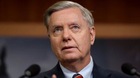Sen. Lindsey Graham, a Republican from South Carolina, speaks during a news conference at the US Capitol in December in Washington, DC. (Win McNamee/Getty Images)