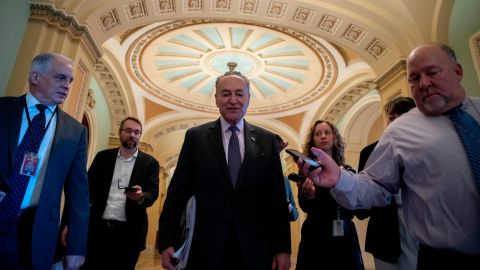 Senate Minority Leader Chuck Schumer arrives at the US Capitol on December 22.