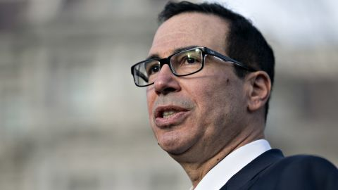 Steven Mnuchin, U.S. Treasury secretary, speaks to members of the media outside the White House in Washington, D.C., U.S., on Monday, Dec. 3, 2018. Mnuchin said he's hopeful the temporary trade-war truce that President Donald Trump and China's Xi Jinping agreed to Saturday will lead to real changes in China's economic policies. Photographer: Andrew Harrer/Bloomberg via Getty Images