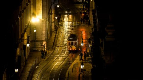 <strong>Lisbon, Portugal:</strong> A popular way to explore the Portuguese capital is to ride its distinctive yellow trams around the city's cobbled hills.