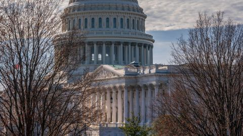 The Capitol is seen from the Russell Senate Office Building in Washington, Thursday, December 27, during a partial government shutdown.