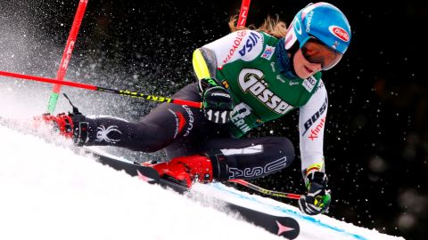 Mikaela Shiffrin saw her five-race unbeaten run come to an end in Austria.