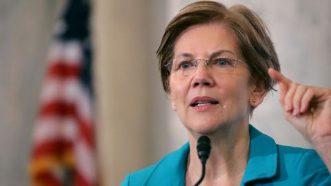Sen. Elizabeth Warren (D-MA) addresses the Rev. Al Sharpton's National Action Network during a post-midterm election meeting in the Kennedy Caucus Room at the Russell Senate Office Building on Capitol Hill November 13, 2018 in Washington, DC. (Chip Somodevilla/Getty Images)