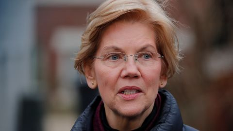U.S. Senator Elizabeth Warren (D-MA) speaks to reporters, after announcing she has formed an exploratory committee to run for president in 2020, outside her home in Cambridge, Massachusetts, U.S., December 31, 2018.   REUTERS/Brian Snyder