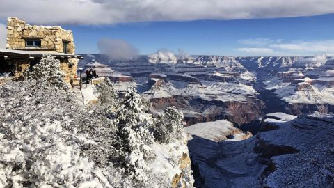 This photo, taken on Tuesday, January 1, shows the South Rim of Grand Canyon National Park in Arizona. While parts of the park were closed because of the shutdown, much of its South Rim was open and accessible.