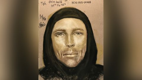 Harris County Sheriff's Office released a sketch of a suspect in the drive-by shooting death of 7-year-old Jazmine Barnes.