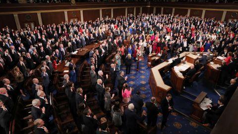 U.S. House Speaker Nancy Pelosi (D-CA)  swears in members of the 116th Congress on Capitol Hill, January 3, 2019.