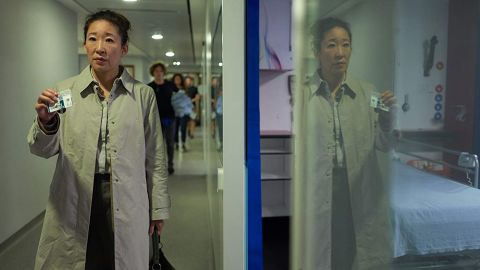 """<strong>Outstanding performance by a female actor in a drama series:</strong> Sandra Oh, """"Killing Eve"""""""