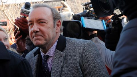Actor Kevin Spacey arrives to face a sexual assault charge at Nantucket District Court in Nantucket, Massachusetts, U.S., January 7, 2019.   REUTERS/Brian Snyder