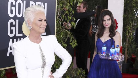 Jamie Lee Curtis was in danger of being upstaged by the Fiji Water girl.