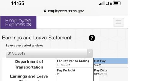 This is federal employee William Striffler's paycheck this morning.