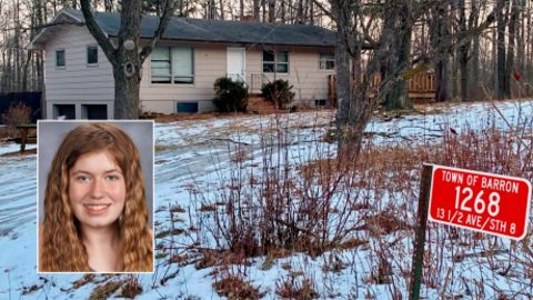 Jayme Closs was abducted after her parents were killed at the family's home, shown here after police secured the crime scene.