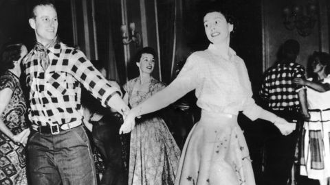 Prince Philip and Princess Elizabeth dance in Ottawa in October 1951.
