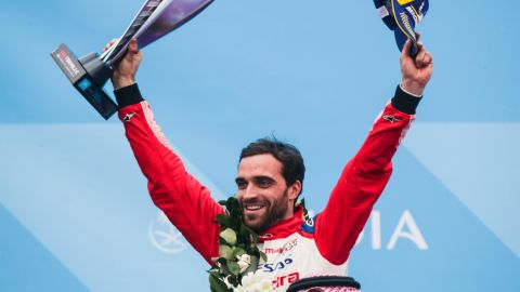 Jerome d'Ambrosio moved top of the leaderboard after winning the Marrakesh ePrix.
