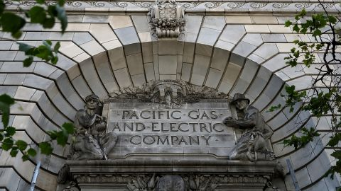 SAN FRANCISCO, CA - JUNE 18:  A view of the Pacific Gas and Electric (PG&E) headquarters on June 18, 2018 in San Francisco, California. California lawmakers are saying that PG&E is considering bankruptcy after a report released by Cal Fire investigators earlier this month showed that PG&E was tied to 12 California wildfires in 2017 that destroyed thousands of homes and killed dozens of people. The fires could cost PG&E over $15 billion in fines and related liabilities.  (Photo by Justin Sullivan/Getty Images)