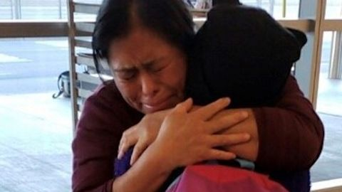 Vilma Carrillo has reunited with her 12-year-old daughter, Yeisvi, after more than 240 days apart. Immigration authorities separated them in May 2018.