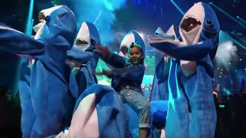 """The """"Baby Shark"""" craze hit the """"X-Factor"""" in fall 2018, thanks to some input from host Simon Cowell's young son."""