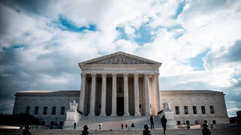 The Supreme Court Building is seen on Decmeber 24, 2018 in Washington DC. - The Supreme Court Building is located at 1 First Street, NE and was designed by architect Cass Gilbert (as Gilbert's last major project; he died before it was completed). It rises four stories (92 ft (28 m)) above ground. The construction completed in 1935. (Photo by Eric BARADAT / AFP)        (Photo credit should read ERIC BARADAT/AFP/Getty Images)