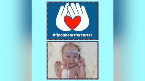 Profile photo for the 'Find a Heart for Carter' campaign on Facebook.