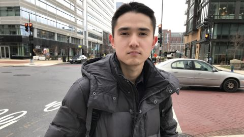 Aerikan has been stranded in the US and forced to drop out of college since his parents disappeared in Xinjiang.