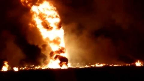 A Pemex pipeline in Tlahuelilpan, Mexico, exploded.