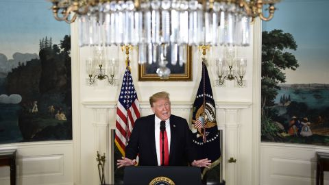 """US President Donald Trump <a href=""""https://www.cnn.com/2019/01/19/politics/house-democrats-border-security-funding-trump/index.html"""" target=""""_blank"""">announces a proposal to end the shutdown </a>on Saturday, January 19. In exchange for $5.7 billion for wall funding, Trump offered temporary protection from deportations for some undocumented immigrants. Democrats swiftly rejected the proposal."""