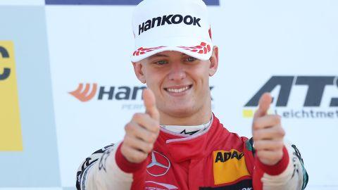 Mick Schumacher after winning the Formula 3 Championship.