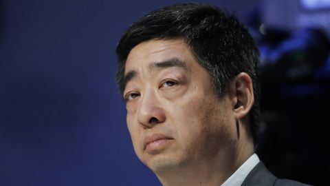 Ken Hu, Deputy Chairman and Rotating Chairman of Huawei, attends a session at annual meeting of the World Economic Forum in Davos, Switzerland, Tuesday, Jan. 22, 2019. (AP Photo/Markus Schreiber)