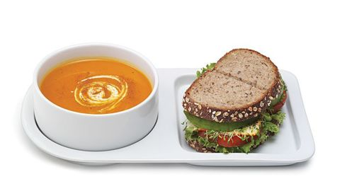 """<strong>A perfect vessel for your favorite comfort meal ($30; </strong><a href=""""https://www.uncommongoods.com/product/soup-sandwich-ceramic-tray-duo"""" target=""""_blank"""" target=""""_blank""""><strong>uncommongoods.com</strong></a><strong>)</strong>"""