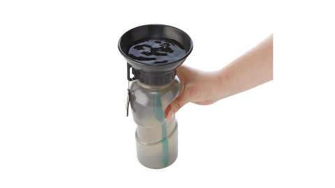 """<strong>This portable water bottle for dogs that'll ensure your best friend stays hydrated ($15; </strong><a href=""""https://www.uncommongoods.com/product/dog-bowl-water-bottle"""" target=""""_blank"""" target=""""_blank""""><strong>uncommongoods.com</strong></a><strong>)</strong>"""