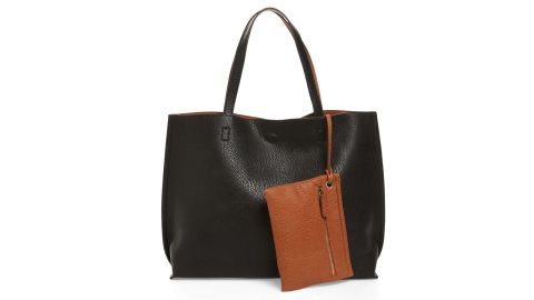 """<strong>This chic, reversible faux leather tote and wristlet set ($49; </strong><a href=""""https://click.linksynergy.com/deeplink?id=Fr/49/7rhGg&mid=1237&u1= 011650under50&murl=https%3A%2F%2Fshop.nordstrom.com%2Fs%2Fstreet-level-reversible-faux-leather-tote-wristlet%2F3559375%3Fsiteid%3DFr_49_7rhGg-iNvhMD0QqKQWX2Xa4Vdvqw%26utm_source%3Drakuten%26utm_medium%3Daffiliate%26utm_campaign%3DFr%2F49%2F7rhGg%26utm_content%3D1%26utm_term%3D595085%26utm_channel%3Daffiliate_ret_p%26sp_source%3Drakuten%26sp_campaign%3DFr%2F49%2F7rhGg"""" target=""""_blank"""" target=""""_blank""""><strong>nordstrom.com</strong></a><strong>)</strong>"""