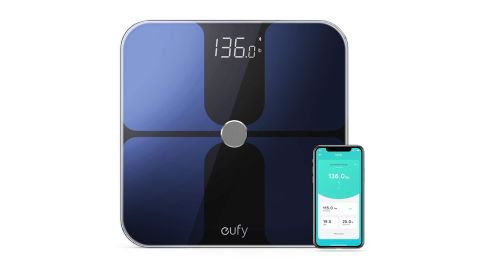 """<strong>This smart scale that can measure your body fat, BMI, muscle mass and more ($39.99; </strong><a href=""""https://amzn.to/2T8RJtR"""" target=""""_blank"""" target=""""_blank""""><strong>amazon.com</strong></a><strong>)</strong>"""