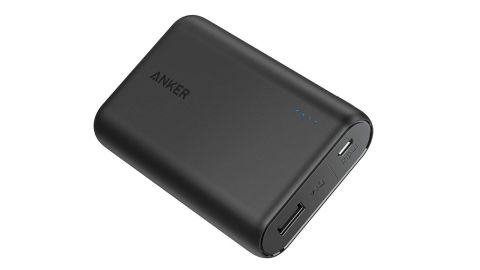 """<strong>This lightweight portable charger that can hold up to three phone charges ($31.99; </strong><a href=""""https://amzn.to/2Wcgebu"""" target=""""_blank"""" target=""""_blank""""><strong>amazon.com</strong></a><strong>)</strong>"""