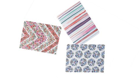 """<strong>A set of three stylish notebooks ($18; </strong><a href=""""https://www.anthropologie.com/shop/pippa-journals-set-of-3"""" target=""""_blank"""" target=""""_blank""""><strong>anthropologie.com</strong></a><strong>)</strong>"""