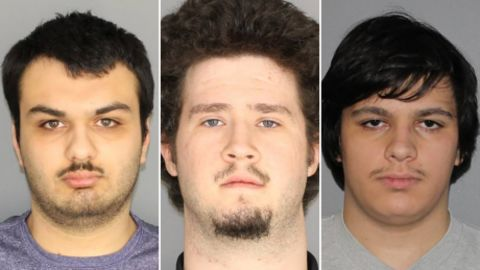 From left: Vincent Vetromile, Brian Colaneri and Andrew Crysel are accused of making bombs for an attack against a Muslim community in upstate New York.