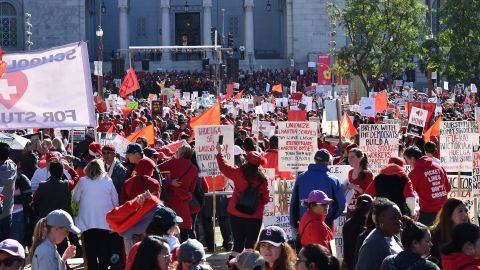 Teachers rallied after union leaders and the school district reached a deal.