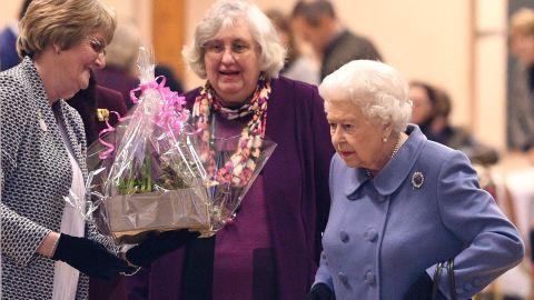 Queen Elizabeth II leaves after attending a Sandringham Women's Institute meeting in Norfolk on Thursday.