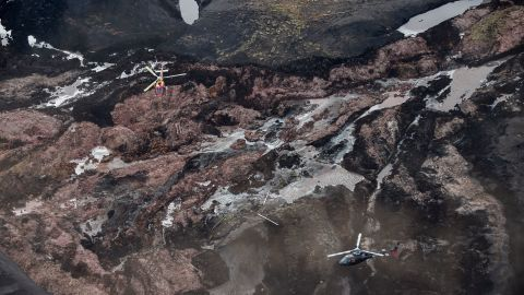 The aftermath of the dam collapse near Brumadinho in southeastern Brazil.