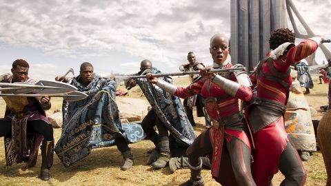 """<strong>Outstanding performance by a stunt ensemble in a motion picture:</strong> """"Black Panther"""""""