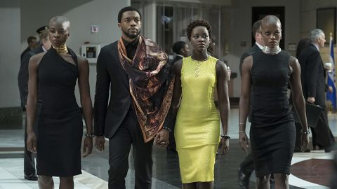 """<strong>Outstanding performance by a cast in a motion picture:</strong> """"Black Panther"""""""