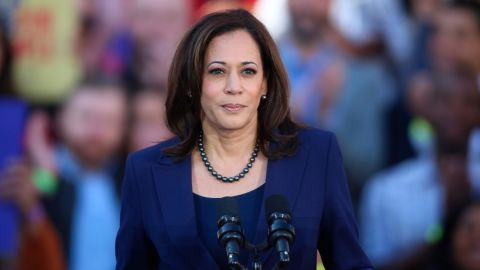 U.S. Senator Kamala Harris (D-CA) speaks to her supporters at the official launch rally for her campaign as a candidate for President of the United States in 2020 in front of Oakland City Hall at Frank H. Ogawa Plaza on January 27, 2019; in Oakland.