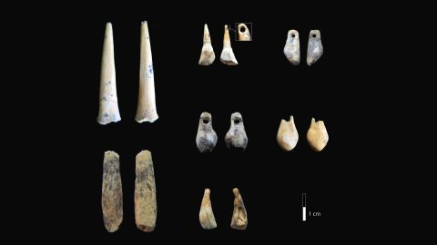 Bone points and pierced teeth found in Denisova Cave were dated to the early Upper Paleolithic. A new study establishes the timeline of the cave, and it sheltered the first known humans as early as 300,000 years ago.